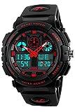Mens Military Pilot Sports Chronograph Black Big Face Analog LED Digital Watches