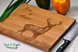 Buck Deer, Personalized Monogram Cutting Board, Engraved Cutting Board, Custom Cutting Board, Wood Cutting Board