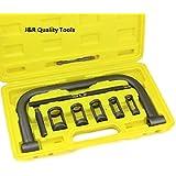 J&R Quality Tools AUTO Solid Valve Spring Compressor C Clamp Service Kit