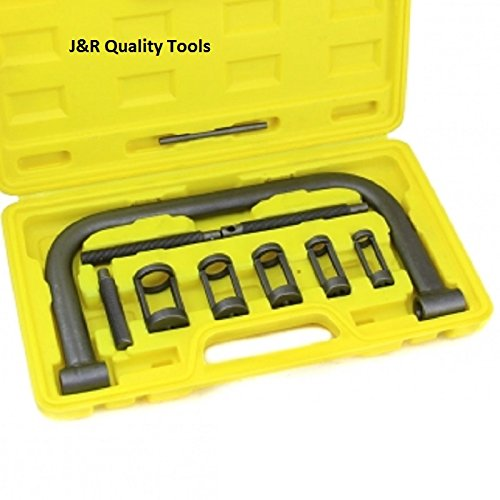 Motorcycle Valve Spring Compressor - J&R Quality Tools AUTO Solid Valve Spring Compressor C Clamp Service Kit
