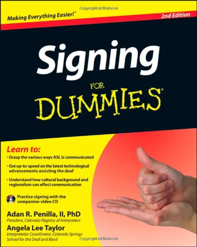 Signing For Dummies, with Video CD PDF
