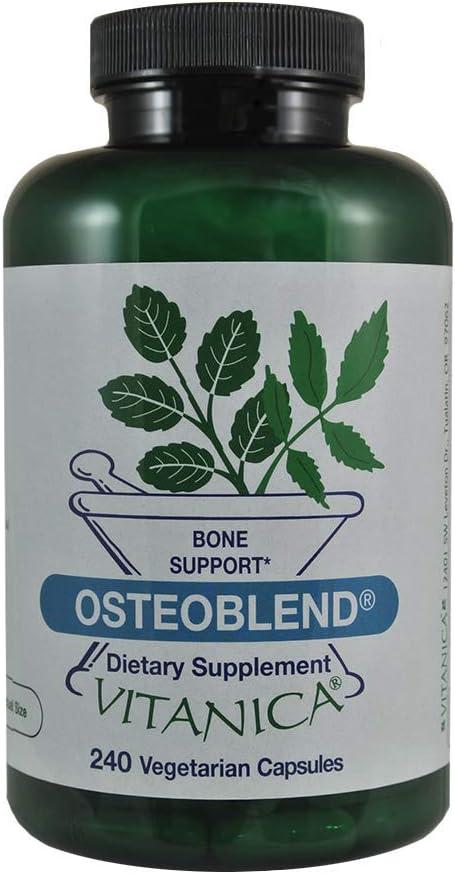 Vitanica, OsteoBlend, Bone Support, Vegan, 240 Capsules