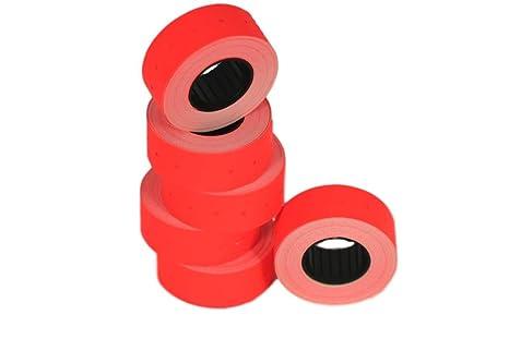 Rotoli Di Carta Colorata : Rotoli rosso mm etichette di carta colorata sticker