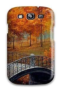 3980052K26573126 Defender Case For Galaxy S3, Autumn Bridge Pattern