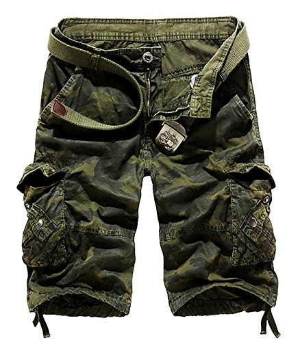 AOYOG Men's Camo Cargo Shorts Cotton