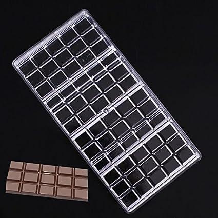Janolia Moldes para Barras de Chocolate, de Policarbonato Transparente para Hacer Chocolate, Moldes Duros