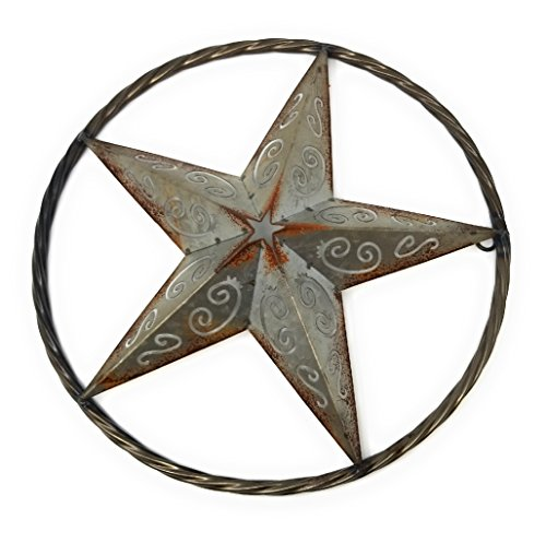 Western Star Hanging Vintage Rustic Metal Wall Art Home/Office Decor. 3D Metal Star Rustic Ornament. ()