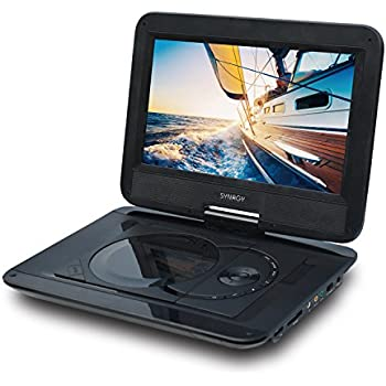 synagy 101 portable dvd player cd player with swivel screen sd card slot for