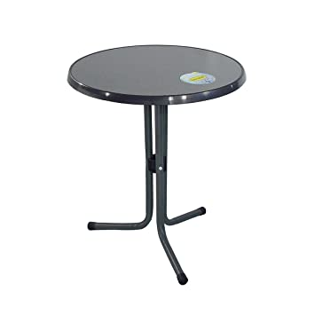 greemotion Table de jardin ronde bistrot - Table de balcon ronde Ø ...