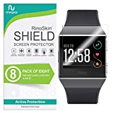 (8-Pack) RinoGear for Fitbit Ionic Screen Protector Case Friendly Screen Protector for Fitbit Ionic Accessory Full Coverage Clear Film