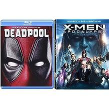 Marvel Cinematic Universe Super Hero Team Up X-Men: Apocalypse (Blu-ray +DVD + Digital HD) and Deadpool (Blu-ray +DVD + Digital HD) 2-Blu-ray/DVD Bundle Double Feature