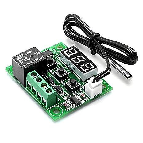 DC 12 V regulador de temperatura con termostato Interruptor de Temperatura Sensor térmico -50-