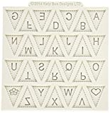 gel kitchen mats uk Katy Sue Designs Bunting Alphabet Design Mat for Cake Decorating, Cupcakes, Sugarcraft and Candies