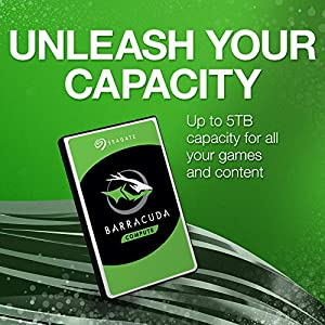Seagate Barracuda 2TB Internal Hard Drive HDD – 2.5 Inch SATA 6 Gb/s 5400 RPM 128MB Cache for PC Laptop (ST2000LM015)
