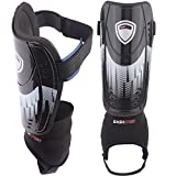 Shin Guards by DashSport – Youth Soccer Shin guards with Ankle Sleeves – Great for Kids – Meets Safety Requirements!