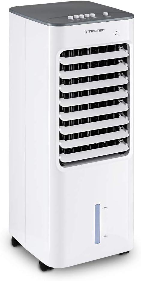 TROTEC Climatizador Portátil PAE 21, 3 en 1: Refrigeración, Ventilación y Humidificación, Eficiente, Silencioso, 50 W, Oficina, Hogar, Blanco