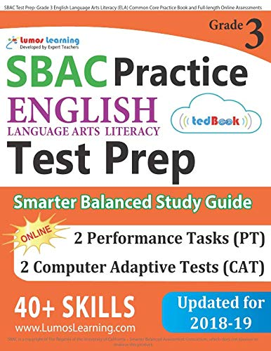 SBAC Test Prep Grade 3 English Language Arts Literacy ELA