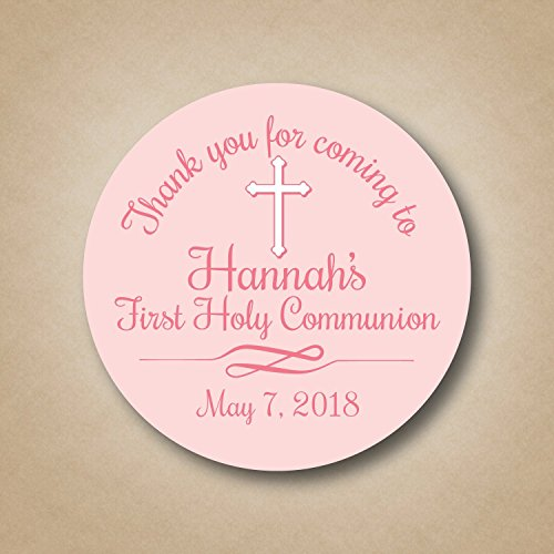 First Communion Favor Stickers - First Communion Photo Invitations