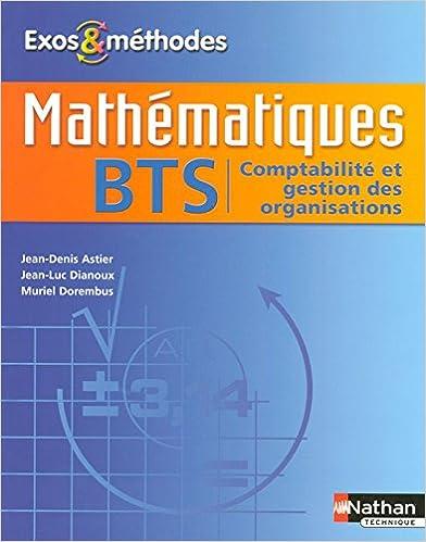 Livres gratuits en ligne Mathématiques - BTS Comptabilité et Gestion des Organisations pdf, epub