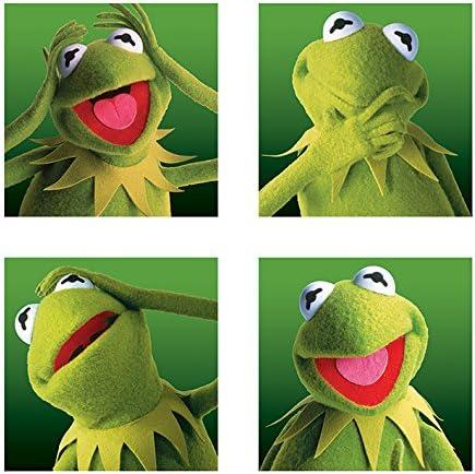 Muppets Lienzos Impresos, diseño de la Rana Gustavo, 40 x 40 cm, Multicolor