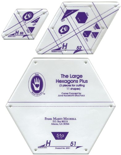 Perfect Patchwork Template-Set H - Large Hexagon S 1 pcs sku# 644499MA by Marti Michell