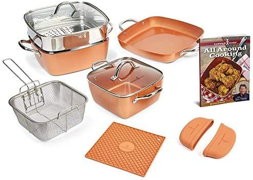 Copper-Chef-12-Piece-Square-Casserole-Cookware-Set