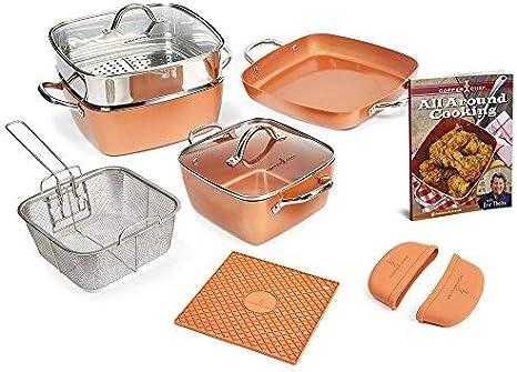 Copper Chef 12 Piece Square Casserole Cookware Set Amazon Ca Home Kitchen