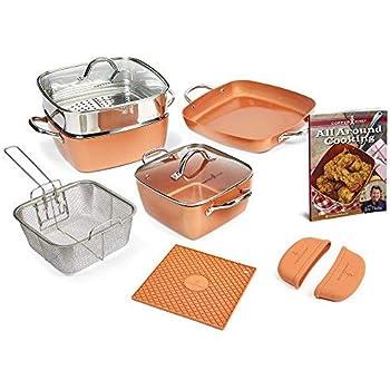 Amazon Com Copper Chef 12 Piece Square Casserole Cookware