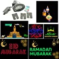 Ramadan Eid Hajj Arabic English LED Projector Lights 6 Slides Indoor & Outdoor Waterproof