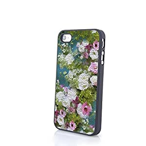 Generic Charming Liveliy Beautiful Flowers Matte Pattern PC Phone Cases fit for Colorful Flowery iPhone 4/4S Cases