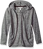 Harmony and Balance Big Girls' Long Sleeve Sweater Knit Top, Gray Heather, 7/8