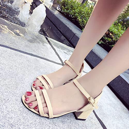 Alte Tacchi Beige Sandali Eleganti Cinturino Alti Donna Donne Plateau Sneakers Spillo Scarpe Sexy A Meibax Aperti Estivi PRCdfdq