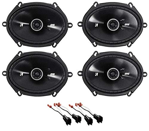 (Kicker 6x8 Front+Rear Factory Speaker Replacement Kit for 2007-2008 Ford F-150)