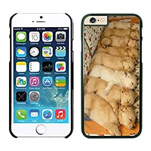 Element Apple Iphone 6 Case 4.7 Inches, Cute Dogs Pets Happiness Cool Black Phone Case Cover for Iphone 6