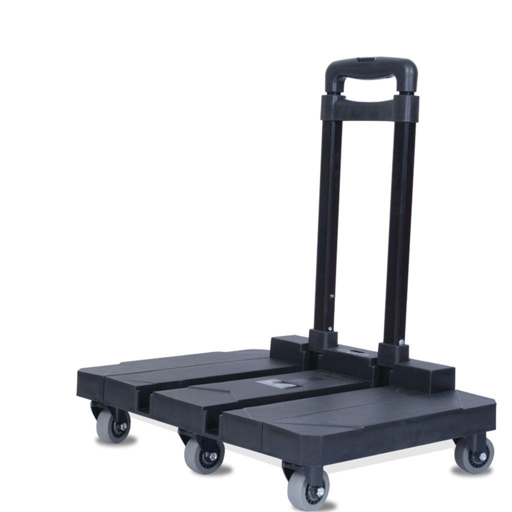 Bai Su ポータブル折り畳みトロリー車のトロリーフラット家庭用荷物カートショッピングカートプル貨物トレーラー200kgの重量を持つミュートホイール ライフショッピング (Color : A) B07TDGD1YY A