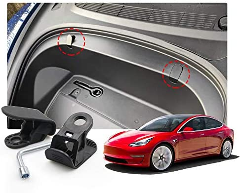 Tesla Model 3 Frunk Hooks Front Trunk Bolt Covers 2019 2020