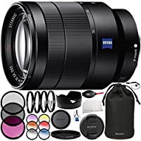 Sony Vario-Tessar T FE 24-70mm f/4 ZA OSS SEL2470Z Lens Bundle Includes Manufacturer Accessories + 3PC Filter Kit + 4PC Macro Lens Kit + Lens Pen + MORE (Certified Refurbished)