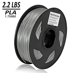 Dikale PLA 3D Printer Filament - 1KG(335m/1099ft) 1.75mm, Dimensional Accuracy +/- 0.02 mm, 1KG Spool 1.75 mm, Gray