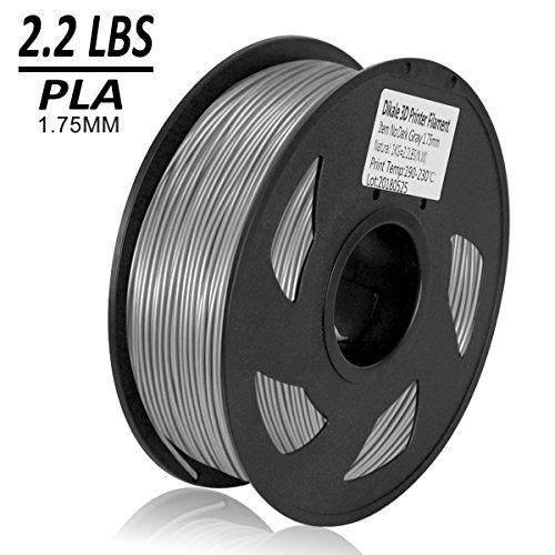 Filament Spool Kg 1 (Dikale PLA 3D Printer Filament - 1KG(335m/1099ft) 1.75mm, Dimensional Accuracy +/- 0.02 mm, 1KG Spool 1.75 mm, Gray)