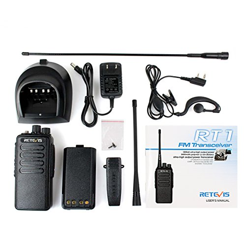 Retevis Way UHF 16CH VOX 3000mAh and 2 Covert Acoustic