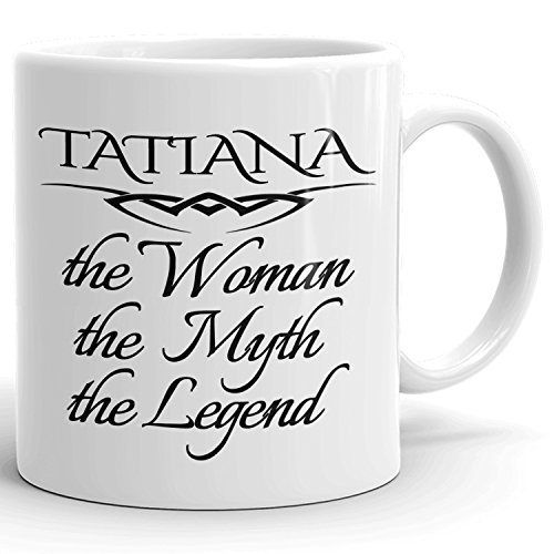 Best Personalized Womens Gift! The Woman the Myth the Legend - Coffee Mug Cup for Mom Girlfriend Wife Grandma Sister in the Morning or the Office - T Set 2