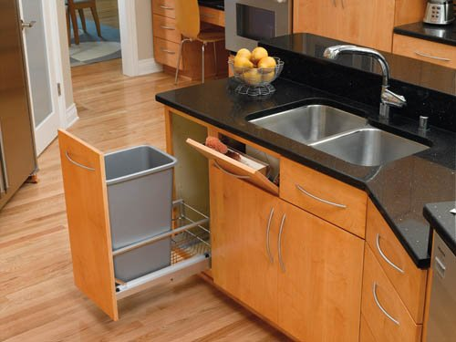Tip-Out Tray Stainless Steel with Hinges Sink & Base Accessories - 6581-13-52 - 13''W x 2-1/8''D x 3''H - Stainless Steel