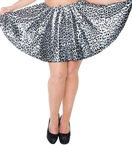 "Plus Size 16"" Circle Skirt (5X, Silver Cat)"