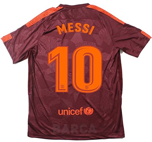 TrendsNow New 2017-2018 Messi #10 Men's Barcelona 3rd Champions League Jersey (Small)