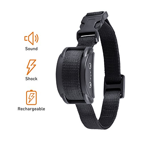 Xvolt Bark Collar, Rechargeable Dog Bark Collar with 5 Adjustable Sensitivity Levels of Humane and Harmless Shock, Automatically Anti Bark for Mini Small Medium Large Dogs