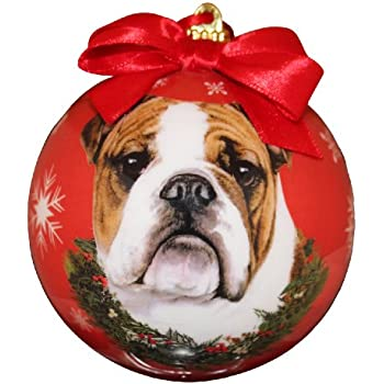 Amazon.com: Sandicast Fawn Bulldog with Santa Hat Christmas ...