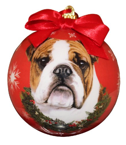 nament Shatter Proof Ball Easy To Personalize A Perfect Gift For Bulldog Lovers (Bulldog Christmas Ornament)