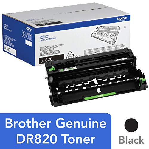 Brother Genuine Drum Unit, DR820, Seamless Integration, Yields Up to 30,000 Pages, Black -