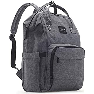 KiddyCare Diaper Bag Backpack, Multi-Function Waterproof Maternity Nappy Bags for Travel with Baby, Large Capacity, Durable and Stylish, Dark Gray