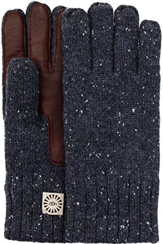 Gray Leather Palm Glove (UGG  Men's Knit Gloves w/ Smart Leather Palm Graphite Heather LG/XL)